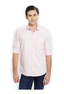 Printed Pink Color Cotton Slim Fit Shirt