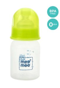 Mee Mee Eazy Flo Premium Baby Feeding Bottle (Green, 60 ml)