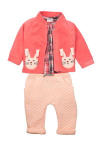 Mee Mee Girls Full Sleeve  Top With Leggings And Jacket Set