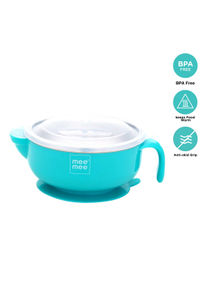 Mee Mee Stay Warm Baby Steel Bowl with Suction Base