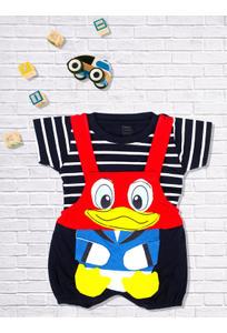 Mee Mee Short Sleeve Striped Tee Donald Duck Dungaree Set