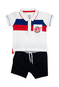 Mee Mee Kids Stripes Tee & Denim Shorts Set