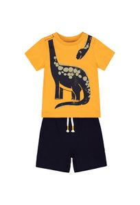 Yellow Dinosaur Shorts And T-Shirt Set