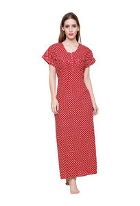 Secret Wish Women's Cotton Red Nighty