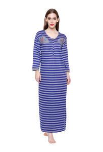 Secret Wish Women's Woolen Blue Nighty