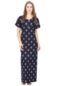 Cotton Blue Nursing Nighty, Nightdress