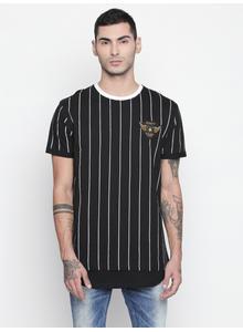Disrupt Black Round Neck Half Sleeve T-shirt For Men