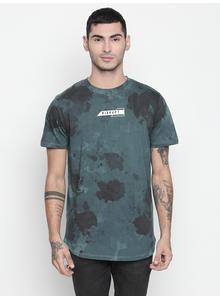 Disrupt Vintage Blue Round Neck Half Sleeve T-shirt For Men