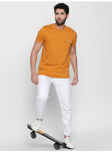 Disrupt Awker Knits Cotton Half Sleeve T-Shirt For Men's