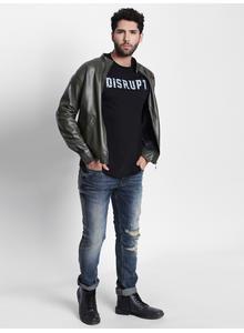 Disrupt Black Cotton T-Shirt