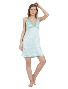 Lacy Satin Babydoll Dress