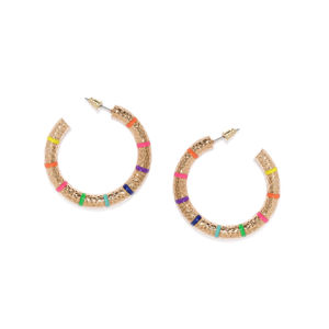 Gold-Toned Circular Half Hoop Earrings