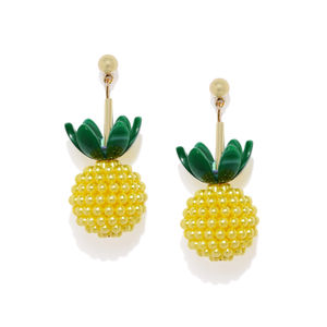 Yellow & Green Quirky Drop Earrings