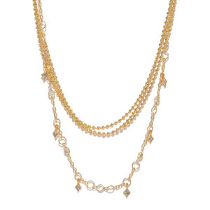 Women Gold-Toned Alloy Choker Layered Necklace