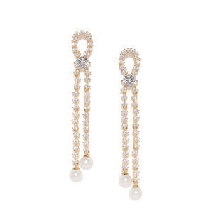 Stacey Knot Pearl Drops