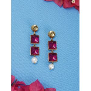 Pink Candy Pearl Earring