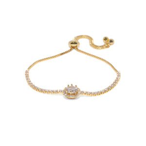 Women Gold-Toned Stone-Studded Charm Bracelet