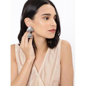 Silver Omkara Earring
