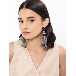 Multicoloured Contemporary Drop Earrings