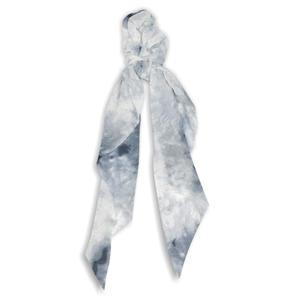 ToniQ Santorini Blue Chiffon Hair Scarf Rubberband