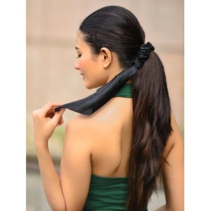 Black Scarf Scrunchie For Women