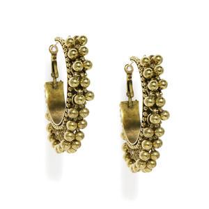 Gold Ghungroo Hoops Earring
