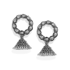 Silver Triangle Dome Earring