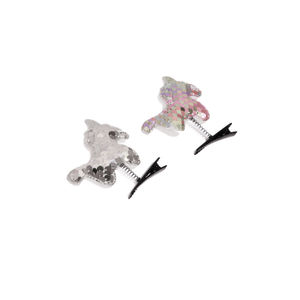 Set of 2 Embellished Alligator Hair Clips