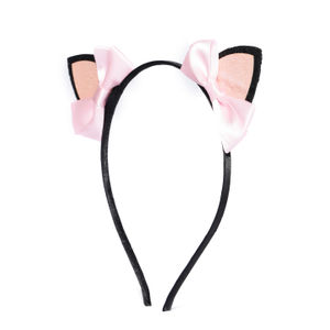Black and Pink Embellished Hairband