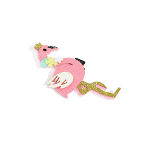 Pink Embellished Flamingo Shaped Alligator Hair Clip