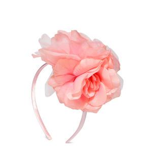 Girls Peach-Coloured Floral Hairband
