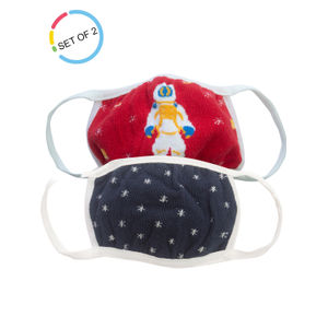 Space Invaders Kids Face Mask- Set of 2 (3-6 years)