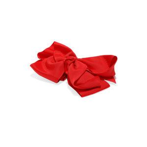 Girls Red Bow Alligator Hair Clip