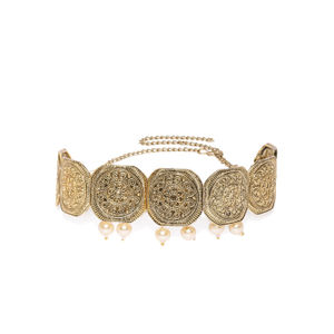 Women Gold-Toned Choker Jewellery Set