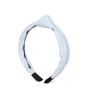 Blue & White Striped Top Knot Hairband