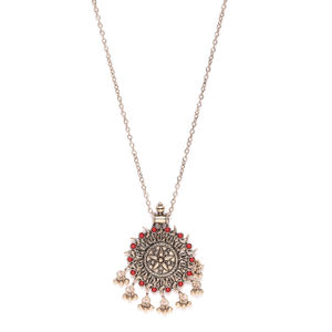 Women Gold-Toned & Red Antique Necklace