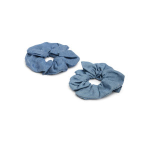 ToniQ Set of 2 Denim Scrunchie For Women