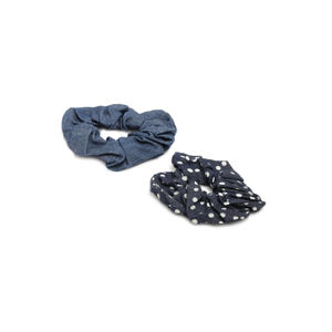 ToniQ Set of 2 Denim Fabrich Scrunchie For Women