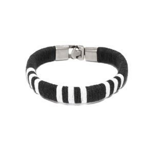 Men Black  White Bracelet-ONESIZE-Black
