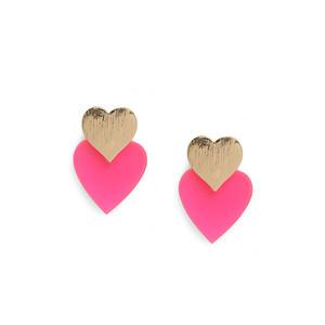 ToniQ Resin Heart Stud Earring For Women