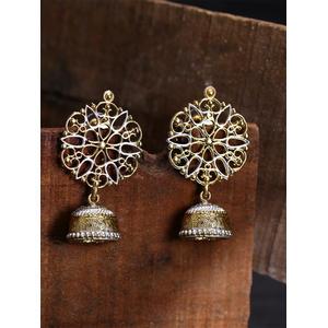 Gold-Toned Classic Filigree Jhumkas