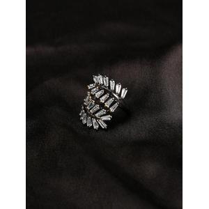 Women Grey Fern Shaped Wonder Ring