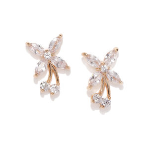 Gold-Plated Irrisa Floral Studs