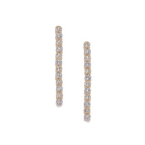 Gold-Plated Cz Contemporary Drop Earring For Women