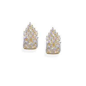 Gold-Plated Geometric Drop Earring For Women