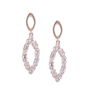 Rose Gold-Plated Geometric Drop Earring For Women