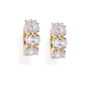 Gold Isobel Cz Stone-Studded Earrings
