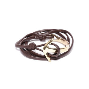 Wrap Around Brown Anchor Bracelet