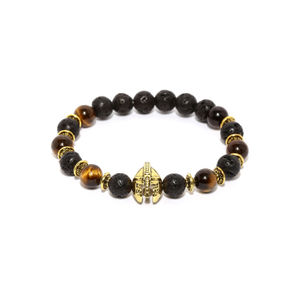 Black Crown Charm Bracelet
