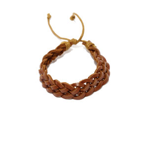 Unisex Brown Braided Bracelet